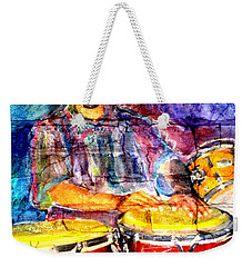 Musician Congas And Brick Weekender Tote Bag