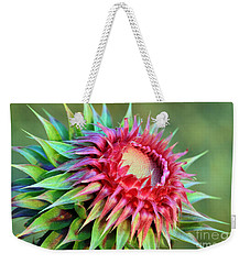 Musk Thistle Weekender Tote Bag by Teresa Zieba