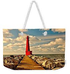 Muskegon South Pier Light Weekender Tote Bag
