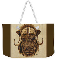 Muskox Weekender Tote Bag by Ron Haist