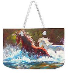 Mustang Splash Weekender Tote Bag