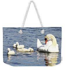Mute Swans Weekender Tote Bag by Alyce Taylor