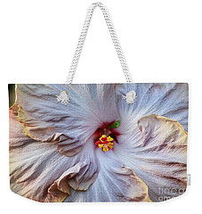 Muted Hibiscus Weekender Tote Bag by Cindy Manero