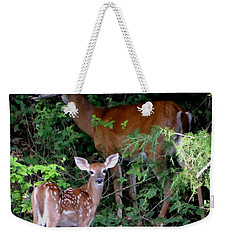 Weekender Tote Bag featuring the photograph My Baby by Deena Stoddard