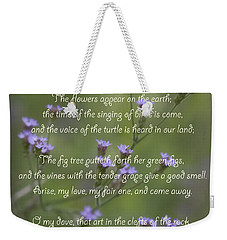 My Beloved Spoke - Purpletop Vervain Verbena Bonariensis Weekender Tote Bag