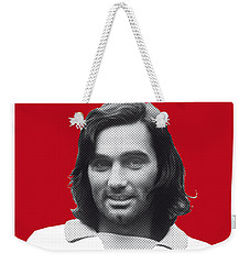 My Best Soccer Legend Poster Weekender Tote Bag by Chungkong Art