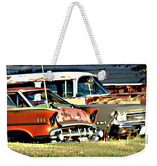 Weekender Tote Bag featuring the digital art My Cars by Cathy Anderson