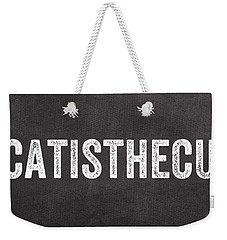 My Cat Is The Cutest Weekender Tote Bag by Linda Woods