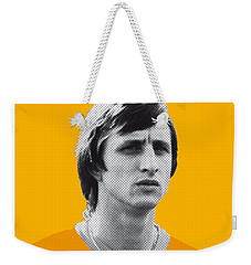 My Cruijff Soccer Legend Poster Weekender Tote Bag by Chungkong Art