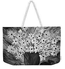 My Daisies Black And White Version Weekender Tote Bag