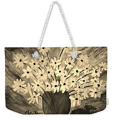 My Daisies Sepia Version Weekender Tote Bag by Ramona Matei