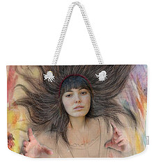 My Drawing Of A Beauty Coming Alive II Weekender Tote Bag