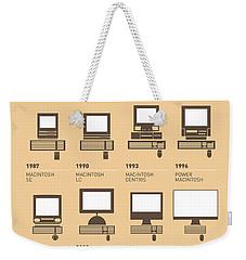 My Evolution Apple Mac Minimal Poster Weekender Tote Bag