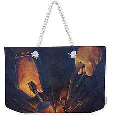 My Fathers Hands Weekender Tote Bag by Rob Corsetti