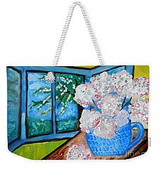 My Grandma S Flowers   Weekender Tote Bag