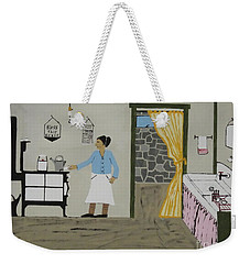 Weekender Tote Bag featuring the painting Coal Miners Wife by Jeffrey Koss