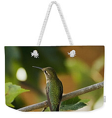 My Green Colored Hummingbird 4 Weekender Tote Bag