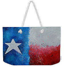 Weekender Tote Bag featuring the painting My Heart Belongs To Texas by Patti Schermerhorn