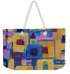 Weekender Tote Bag featuring the painting My Jazz N Blues 1 by Holly Carmichael