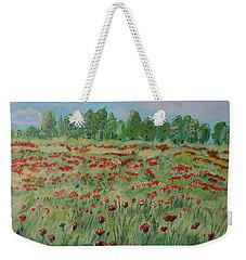 My Poppies Field Weekender Tote Bag