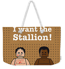 My Rocky Lego Dialogue Poster Weekender Tote Bag by Chungkong Art