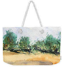 Weekender Tote Bag featuring the painting My Secret Beach by Marionette Taboniar