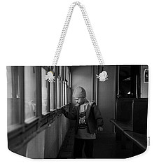 Weekender Tote Bag featuring the photograph My Shadow by Jeremy Rhoades