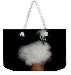 Weekender Tote Bag featuring the photograph My Showgirl  by Donna Brown