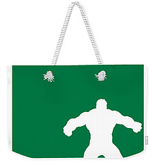 My Superhero 01 Angry Green Minimal Poster Weekender Tote Bag by Chungkong Art