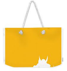 My Superhero 05 Wolf Yellow Minimal Poster Weekender Tote Bag by Chungkong Art
