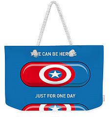 My Superhero Pills - Captain America Weekender Tote Bag