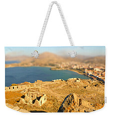 Weekender Tote Bag featuring the photograph My Toy Castle by Vicki Spindler