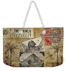 My Trip To Egypt 1914 Weekender Tote Bag by Carol Leigh