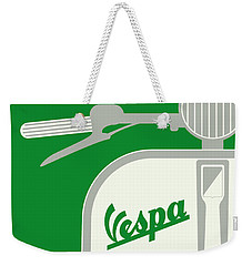 My Vespa - From Italy With Love - Green Weekender Tote Bag by Chungkong Art