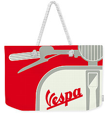 My Vespa - From Italy With Love - Red Weekender Tote Bag by Chungkong Art