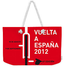 My Vuelta A Espana Minimal Poster Weekender Tote Bag