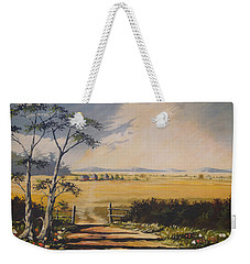Weekender Tote Bag featuring the painting My Way Home by Anthony Mwangi