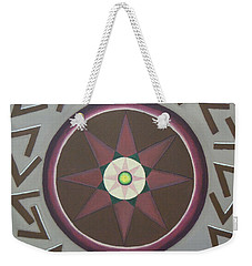 Weekender Tote Bag featuring the painting My Yantra by Mini Arora