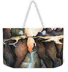 Mystery Canyon - Fantasy Art Painting Weekender Tote Bag