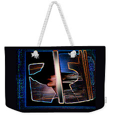 Weekender Tote Bag featuring the painting Mysterious Lady by Hartmut Jager