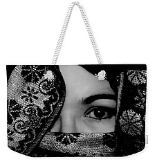 Mysterious Woman Weekender Tote Bag
