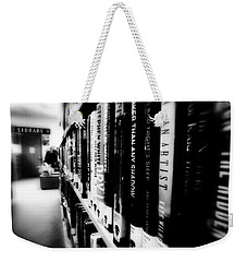 Weekender Tote Bag featuring the photograph Mystery At The Library by Lucinda Walter
