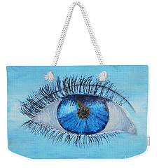Weekender Tote Bag featuring the painting Mystic Eye by Pamela  Meredith