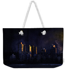 Mystic Orange Glowing Sunrise On Vancouver   Weekender Tote Bag by Peter v Quenter