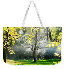 Weekender Tote Bag featuring the photograph Mystical Parkland by Nina Silver