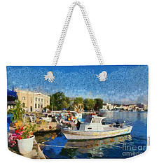 Mytilini Port Weekender Tote Bag