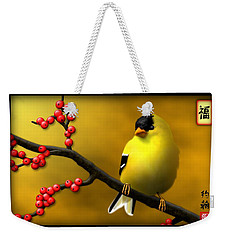N. American Male Goldfinch Weekender Tote Bag