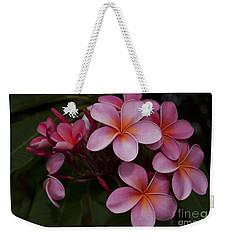 Na Lei Pua Melia O Wailua - Pink Tropical Plumeria Hawaii Weekender Tote Bag