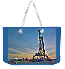 Nabors Rig In West Texas Weekender Tote Bag by Lanita Williams