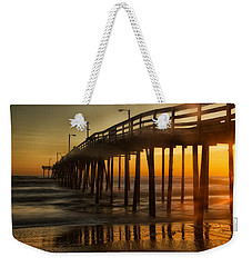 Nags Head Fishing Pier Weekender Tote Bag